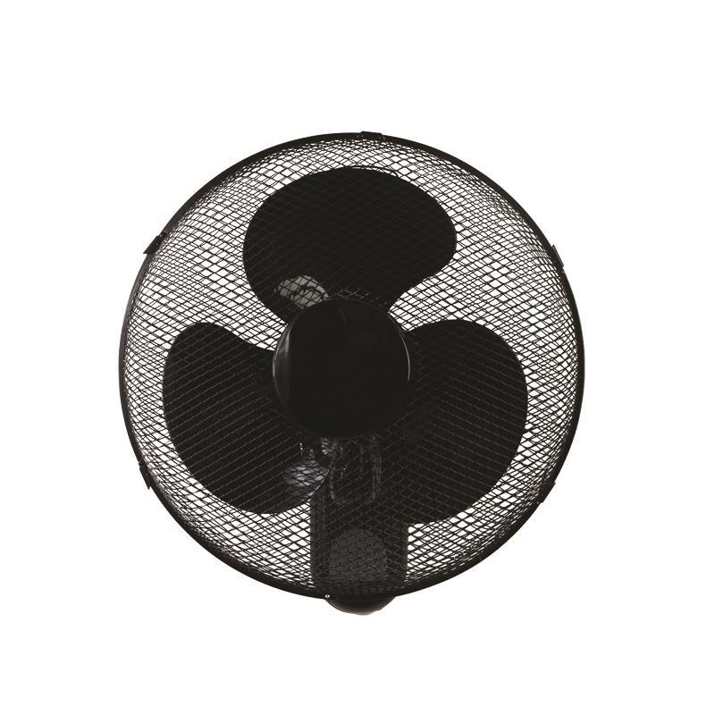 Eurolamp Ανεμιστήρας 40W Επιτοίχιος Wall Fan Μαύρος