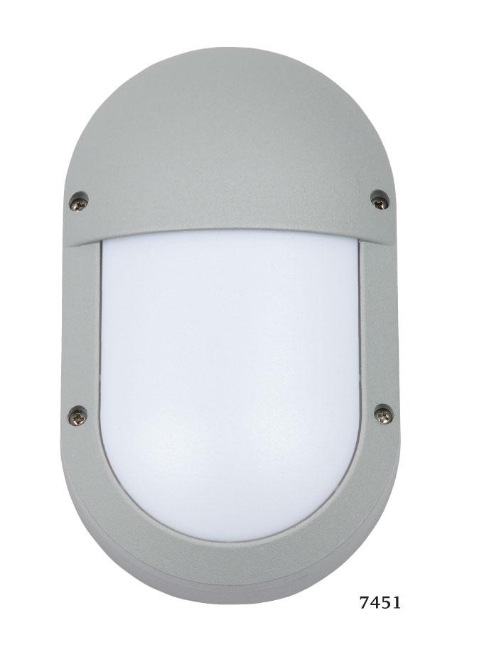 SL LED Απλίκα Τοίχου E27 Αλουμινίου Oval Κάθετη IP54