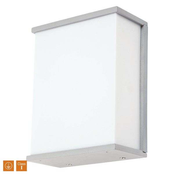 SL LED Απλίκα Τοίχου E27 IP44 Ορθογώνια Πλήρης Πρόσοψη