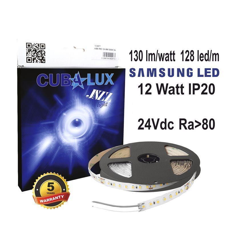 CUBALUX Jazz light Μονόχρωμη Ταινία LED 12W/m 24V IP20 5m