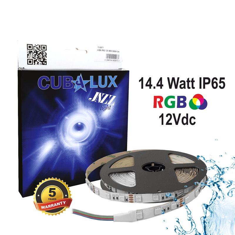 CUBALUX Jazz light RGB Ταινία LED 14.4W/m 12V IP67 5m