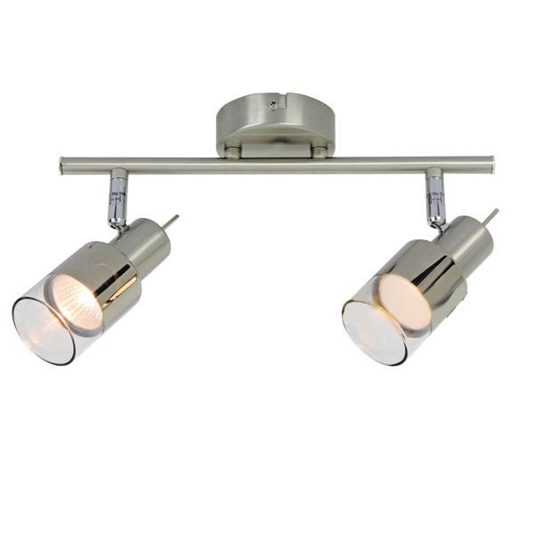 ACA LED Spot Οροφής Κινητό GU10 με Γυαλί Διπλό
