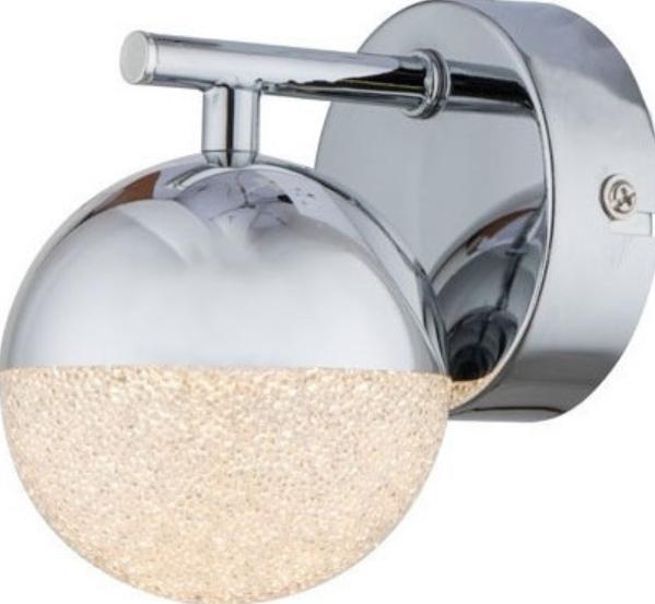 ACA LED Επίτοιχο Φωτιστικό 4W Μεταλλικό Χρώμιο Ακρυλικό