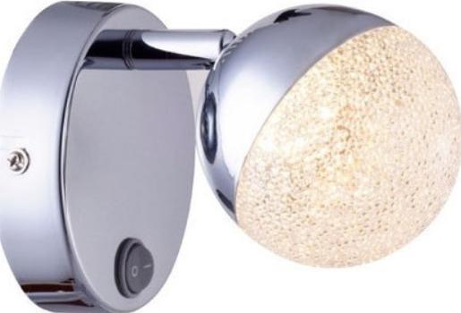 ACA LED Επίτοιχο Φωτιστικό 4W Μεταλλικό Χρώμιο Ακρυλικό Με Διακόπτη