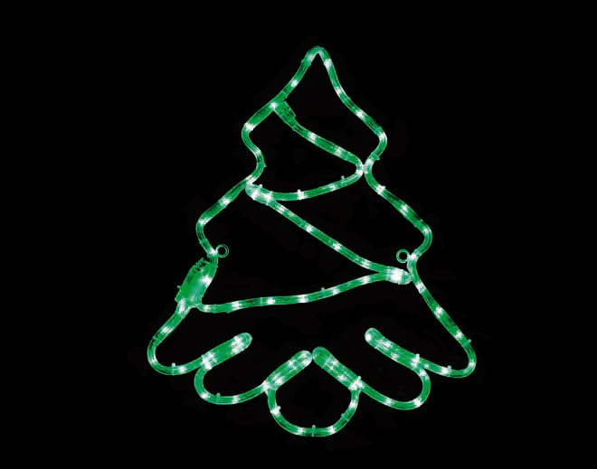 ACA LED Φωτοσωλήνας Έλατο 72 Steady LEDs 3mm Πράσινο 44x51cm IP44