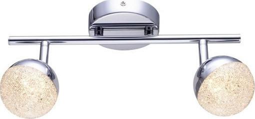 ACA LED Επίτοιχο Φωτιστικό 2x4W Μεταλλικό Χρώμιο Ακρυλικό