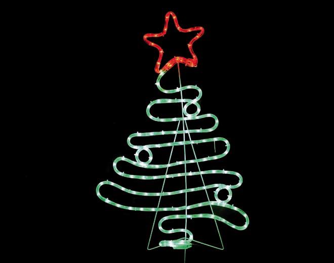 ACA LED Φωτοσωλήνας Christmas Tree 132 Steady LEDs 3mm 54x90cm IP44 με Βάση