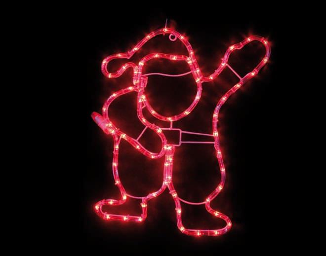 ACA LED Φωτοσωλήνας Santa 72 Steady LEDs 3mm Κόκκινο 41x46cm IP44