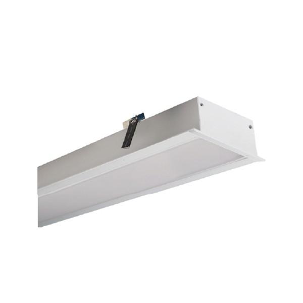 ACA LED Γραμμικό Χωνευτό Φωτιστικό 34W RECY Πολυκαρβονικό Ημιδιαφανές Κάλυμμα 1280mm