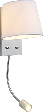 ACA Βάση Απλίκας 1xE27 3W LED Σπιραλ Μεταλλικό Με Διακόπτη