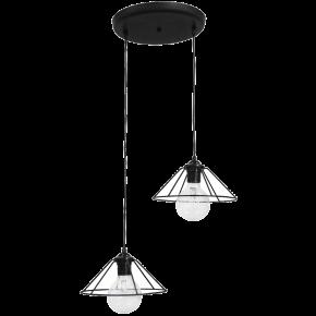 Φωτιστικό Κρεμαστό/Οροφής FUN-350 2L PENDEL BLACK 34-0077