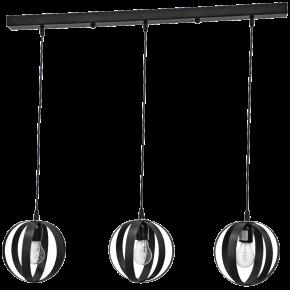 Κρεμαστό φωτιστικό μεταλλικό LAMA 3/L RAGA CE BLACK 34-0060