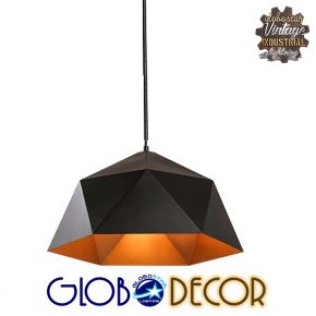 Vintage Industrial Κρεμαστό Φωτιστικό Οροφής Sylra 1XE27 Globostar
