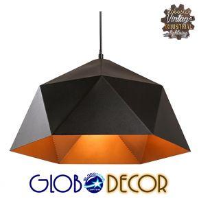 Vintage Industrial Κρεμαστό Φωτιστικό Οροφής Jenbeth 1XE27 Globostar