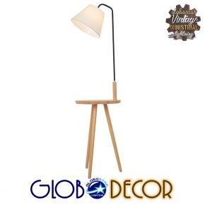 Μοντέρνο Φωτιστικό Δαπέδου Μονόφωτο Μπεζ Ξύλινο GloboStar TIFFANY 01206