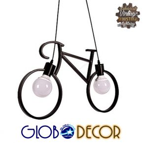 Vintage Industrial Κρεμαστό Φωτιστικό Bike 2XE27 Globostar