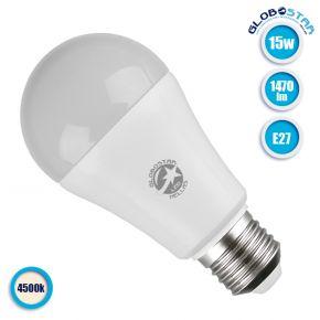 Γλόμπος LED A60 με βάση E27 15 Watt 230v Φυσικό Λευκό GloboStar 01695