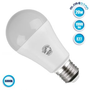 Γλόμπος LED A60 με βάση E27 20 Watt 230v Ψυχρό GloboStar 01697