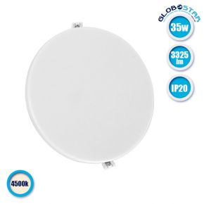 Πάνελ PL LED Οροφής Στρογγυλό Χωνευτό 35W 230v 3325lm 180° Φυσικό Λευκό 4500k GloboStar 01891