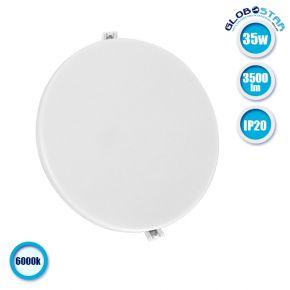 Πάνελ PL LED Οροφής Στρογγυλό Χωνευτό 35W 230v 3500lm 180° Ψυχρό Λευκό 6000k GloboStar 01892