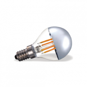VK Λάμπα LED 4W E14 IP20 COB Filament Silver Tip Dimmable