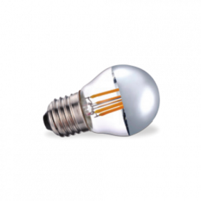 VK Λάμπα LED Filament 4W Silver Tip E27 IP20 Dimmable