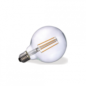 VK Λάμπα LED Filament 7W IP20 Globo G95 Ε27 Clear Dimmable