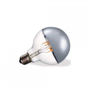 VK Λάμπα LED Filament 7W E27 G95 IP20 Globo Silver Tip Dimmable