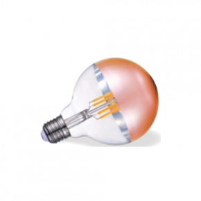 VK Λάμπα LED Filament 7W E27 G95 IP20 Globo Copper Tip Dimmable