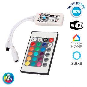 Ασύρματο Smart Home WiFi LED Controller RGB & RGBW 192 Watt 5 έως 28 Volt GloboStar 04039