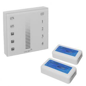 Σετ Ασύρματο RF 2.4G LED Dimmer Τοίχου Αφής 12-24 Volt 288/576 Watt για Δύο Group GloboStar 04046