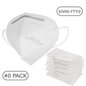Μάσκα Υψηλής Προστασίας FFP2 - KN95 EN149:2001+A1:2009 GB2626-2006 Πακέτο 40 Τεμαχίων GloboStar 777777