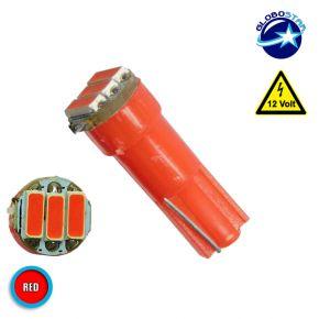 Λαμπτήρας LED T5 3 SMD 4014 Κόκκινος GloboStar 04498
