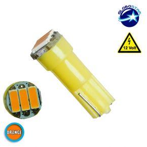 Λαμπτήρας LED T5 3 SMD 4014 Πορτοκαλί GloboStar 04499