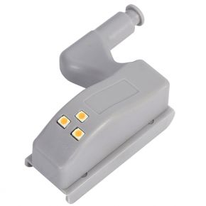Φωτιστικό Ντουλάπας LED για Μεντεσέ με Διακόπτη On/Off Κουμπωτό με Μπαταρία(συμπεριλαμβάνεται) Θερμό Λευκό 3000k GloboStar 07031