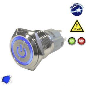 Διακοπτάκι LED ON/OFF 12 Volt DC Μπλε
