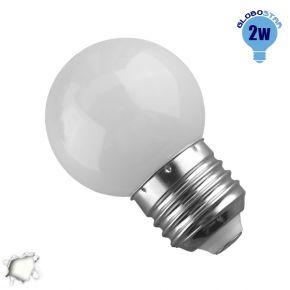 Mini Γλόμπος LED G45 2 Watt Λευκό Ημέρας