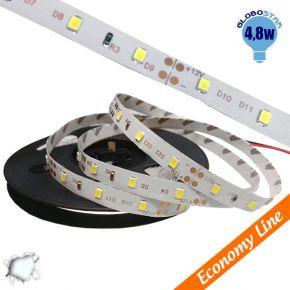 Eco Ταινία LED 4.8 Watt 12 Volt Ψυχρό Λευκό IP20