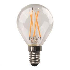 Eurolamp Λάμπα LED Σφαιρική Crossed Filament 4.5W E14 Clear