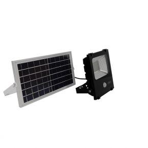 Αυτόνομος Ηλιακός Φωτοβολταϊκός Προβολέας LED 30 Watt IP 65 με Αισθητήρα Κίνησης Ψυχρό Λευκό 6000k GloboStar 12102