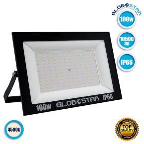 Προβολέας LED OSIRIS 100W 105LM/W 10500LM 120° Μοίρες AC85-265V BK 2 YEARS WARRANTY Αδιάβροχος IP66 Φυσικό Λευκό 4500k GloboStar 12336