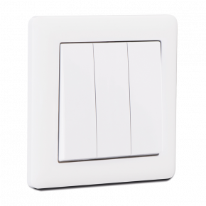 Makel British Standard Διακόπτης 3G Λευκός