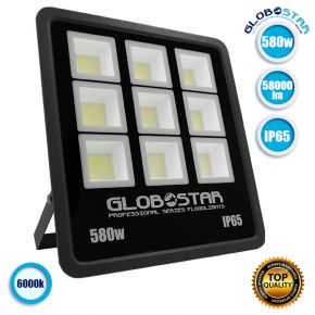 Προβολέας LED TITAN 580W 100LM/W 58000LM 90°*120° Μοίρες AC85-265V BK 2 YEARS WARRANTY Αδιάβροχος IP65 Ψυχρό Λευκό 6000k GloboStar 12357