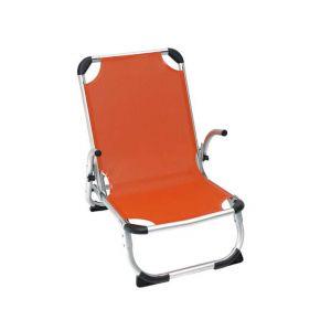 Campus Καρέκλα Παραλίας ΑλουμινίουΜε Ψηλή Πλάτη Πορτοκαλί