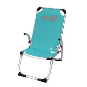Campus Καρέκλα Παραλίας ΑλουμινίουΜε Ψηλή Πλάτη Γαλάζια