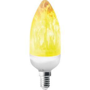 Eurolamp LED Λάμπα Flame 3W E14 C37