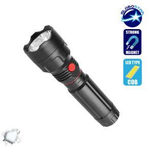 Πτυσσόμενος Φακός COB LED Εμπρόσθιου και Πλαϊνού Φωτισμού