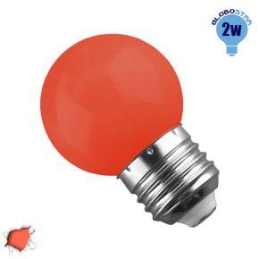 Mini Γλόμπος LED G45 2 Watt Πορτοκαλί Dark