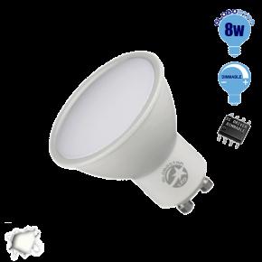 LED Σποτ GU10 Globostar 8 Watt 230v Ημέρας Dimmable