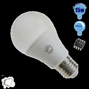Γλόμπος LED A60 με βάση E27 GloboStar 15 Watt 230v Ημέρας Dimmable